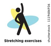 stretching exercises icon... | Shutterstock .eps vector #1119686936
