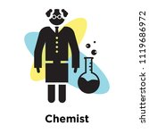 chemist icon vector isolated on ... | Shutterstock .eps vector #1119686972