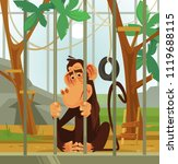 Sad Unhappy Monkey Chimpanzee...