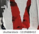 torn posters grunge creased... | Shutterstock . vector #1119688412