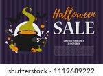 halloween sale vector... | Shutterstock .eps vector #1119689222