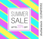 sale banner for online shopping ... | Shutterstock .eps vector #1119695552