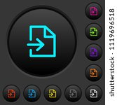 import dark push buttons with... | Shutterstock .eps vector #1119696518