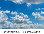 beautiful blue sky with cloudy. ... | Shutterstock . vector #1119698345
