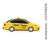 yellow taxi car isolated on...   Shutterstock .eps vector #1119706076