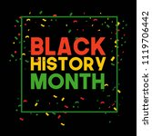 black history month vector... | Shutterstock .eps vector #1119706442