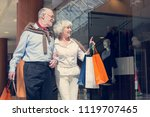 adult senior couple with... | Shutterstock . vector #1119707465