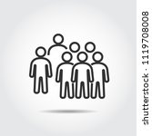 people icons work group team... | Shutterstock .eps vector #1119708008