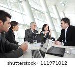 business people having a... | Shutterstock . vector #111971012