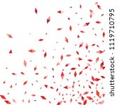 confetti of two colored rhombs... | Shutterstock .eps vector #1119710795