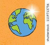 earth illustration cartoon with ...   Shutterstock .eps vector #1119713756