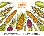 corn on the cob hand drawn... | Shutterstock .eps vector #1119715862
