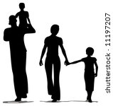 family of four | Shutterstock .eps vector #11197207