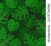 palm leaves background. aloha... | Shutterstock .eps vector #1119726086