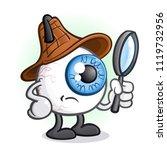 private eye ball detective... | Shutterstock .eps vector #1119732956