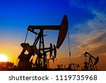 the oil pump  industrial... | Shutterstock . vector #1119735968