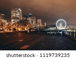 seattle waterfront view with... | Shutterstock . vector #1119739235