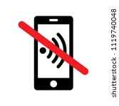 'please silence your mobile... | Shutterstock .eps vector #1119740048