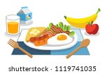 foods with benefits. eating... | Shutterstock .eps vector #1119741035