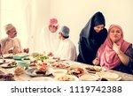 muslim family having a ramadan... | Shutterstock . vector #1119742388