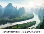 guilin lijiang mountain range   Shutterstock . vector #1119743495