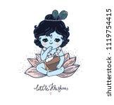 little lord krishna  happy... | Shutterstock .eps vector #1119754415