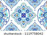 moroccan medallion seamless... | Shutterstock . vector #1119758042