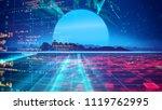 retro futuristic background... | Shutterstock . vector #1119762995