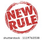 new rule stamp recent law... | Shutterstock . vector #1119763538
