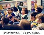 happy kids at elementary school | Shutterstock . vector #1119763808