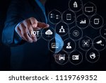 internet of things  iot ... | Shutterstock . vector #1119769352