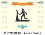 man on treadmill icon | Shutterstock .eps vector #1119776276