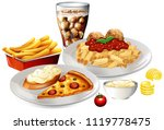 a set of delicious food... | Shutterstock .eps vector #1119778475