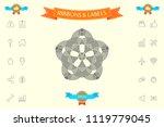 geometric oriental arabic... | Shutterstock .eps vector #1119779045