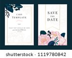 collection of peony flower  ... | Shutterstock .eps vector #1119780842