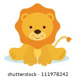 Stock vector cute baby lion for newborns events 111978242