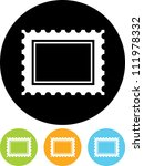 postage stamp   vector icon...