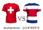switzerland vs costa rica .... | Shutterstock . vector #1119785972