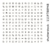 machine learning icon set....   Shutterstock .eps vector #1119788948