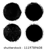 set of grunge circles.vector... | Shutterstock .eps vector #1119789608