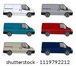 mini bus  car van vector... | Shutterstock .eps vector #1119792212