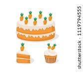 vector illustration of carrot... | Shutterstock .eps vector #1119794555