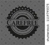 carefree black badge | Shutterstock .eps vector #1119795575