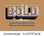 vector of modern bold font and... | Shutterstock .eps vector #1119797618