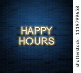 happy hours sale vector... | Shutterstock .eps vector #1119799658