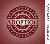 adoption realistic red emblem | Shutterstock .eps vector #1119800642