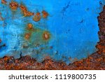 the rust on the steel plate is... | Shutterstock . vector #1119800735