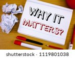 text sign showing why it... | Shutterstock . vector #1119801038