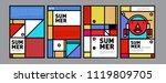 summer colorful poster design... | Shutterstock .eps vector #1119809705