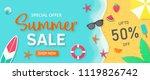 summer sale background for... | Shutterstock .eps vector #1119826742